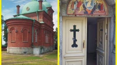 Верхний и нижний храмы Воскресенского скита