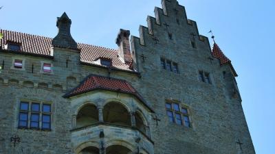 Балкон на северной стене замка