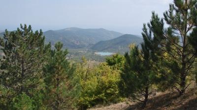 Финиш дневного перехода - озеро Хун
