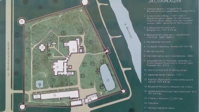 План-схема монастыря