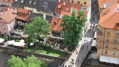 Вид с башни на Лазебницкий мост