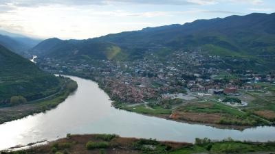Панорама на Куру и Арагви (справа)