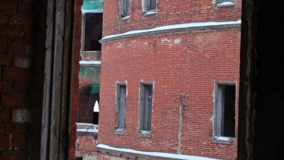 Форт Александр. Вид из жилых помещений горжи
