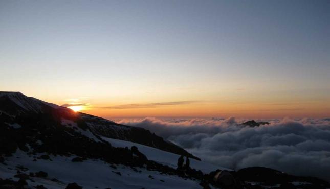 Закат на склонах Эльбруса